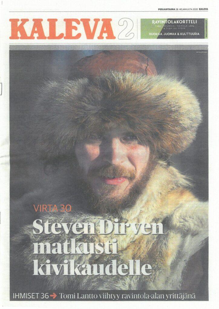 Steven Dirven in Kaleva's cover page
