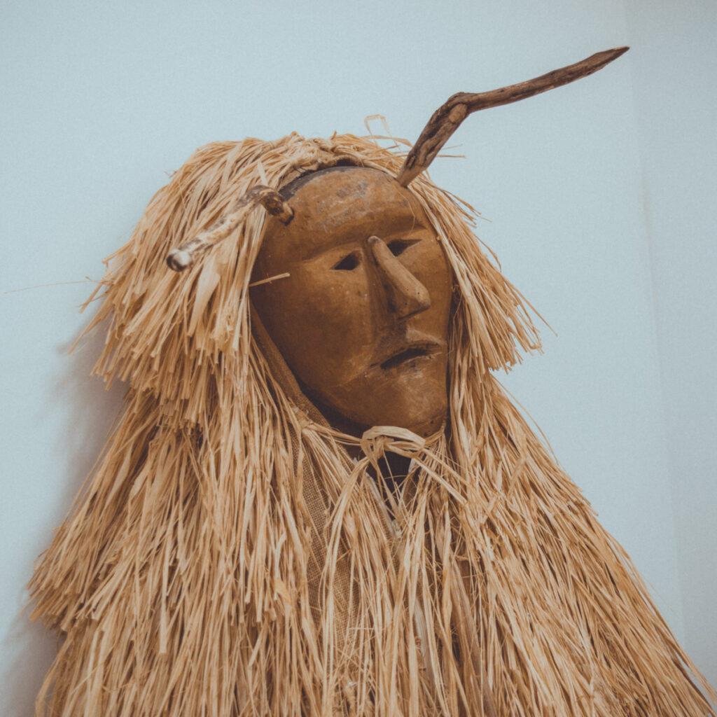 Máscara de careto no museu de Lazarim