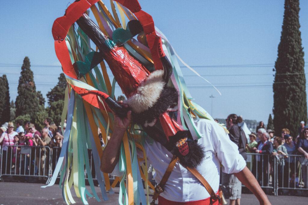 Careto da Lagoa no Festival da Máscara Ibérica em Lisboa