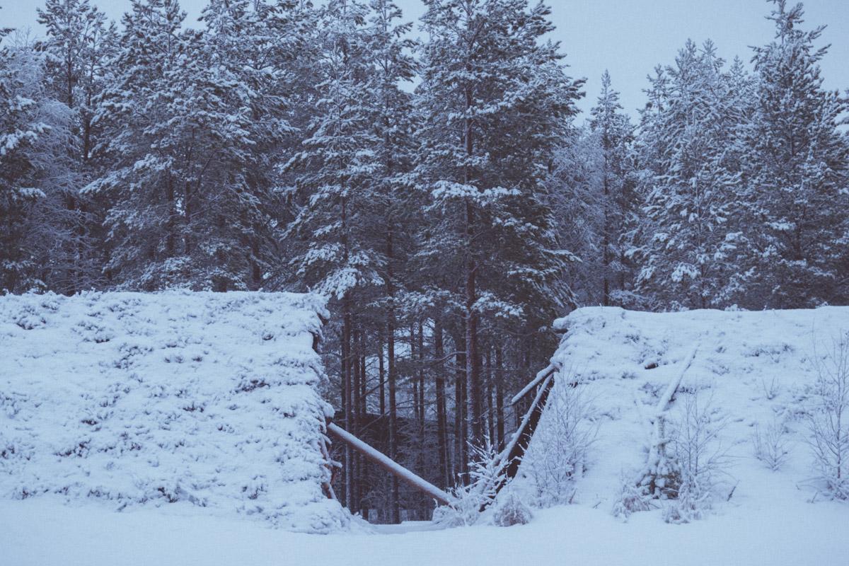 Neolithic village in Winter
