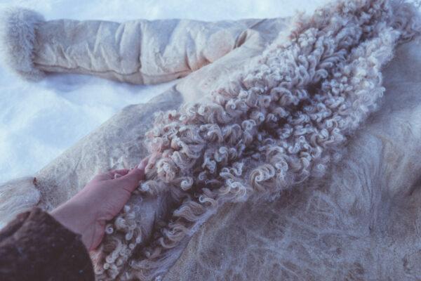 Handmade sheepskin coat